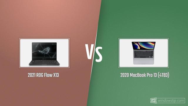"""ROG Flow X13 (2021) vs. MacBook Pro 13"""" (2020) with 4 ..."""