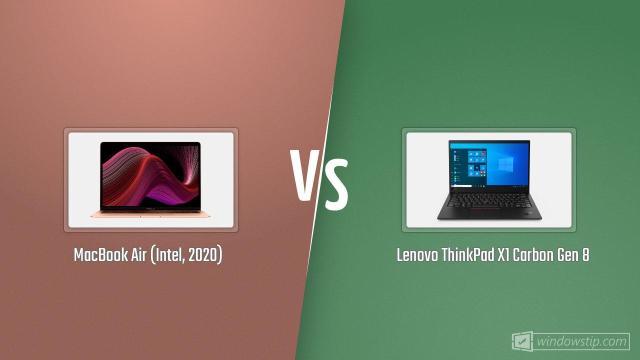 MacBook Air (Intel, 2020) vs. Lenovo ThinkPad X1 Carbon ...