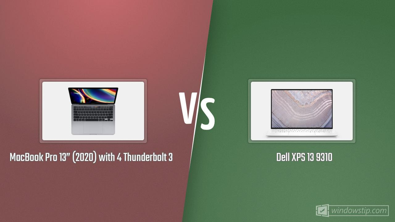 """MacBook Pro 13"""" (2020) with 4 Thunderbolt 3 vs. Dell XPS ..."""