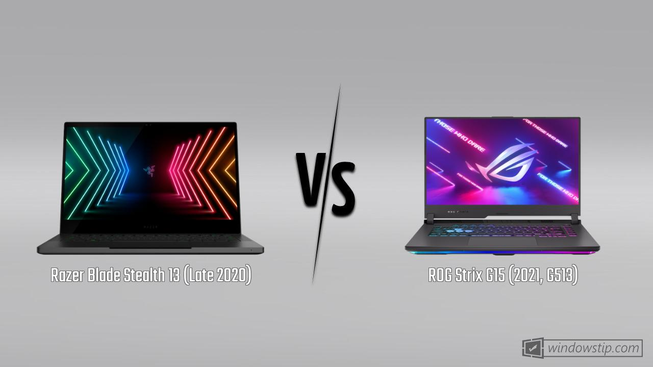 Razer Blade Stealth 13 (Late 2020) vs. ROG Strix G15 (2021, G513)