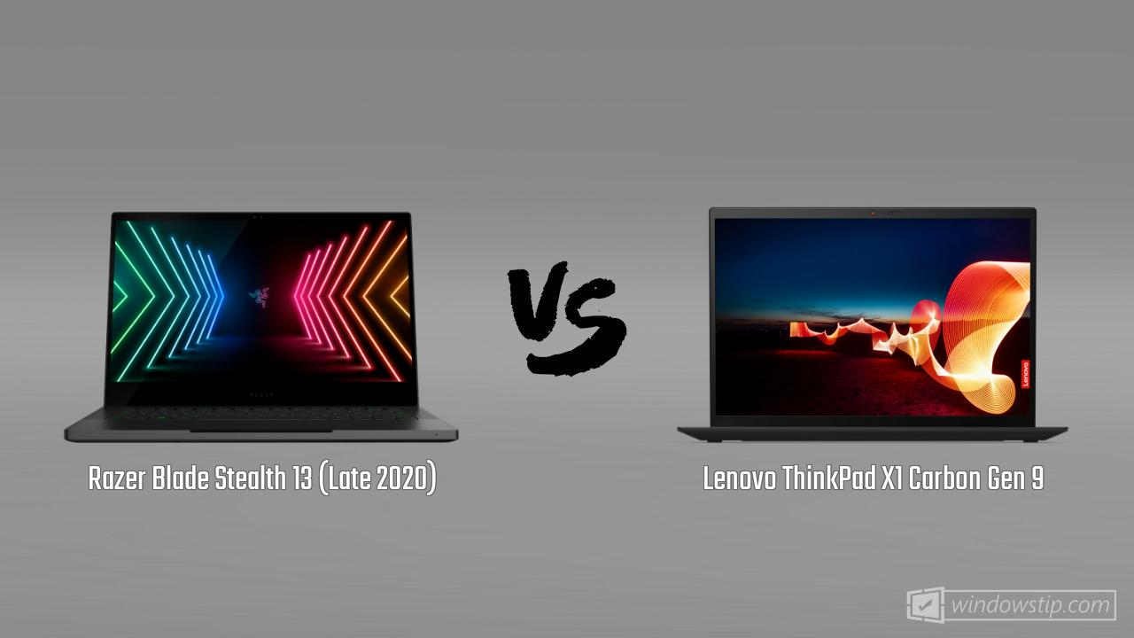 Razer Blade Stealth 13 (Late 2020) vs. Lenovo ThinkPad X1 Carbon Gen 9