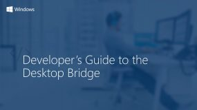 Developer's Guide to the Desktop Bridge