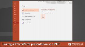 Save an PowerPoint presentation as a PDF in Microsoft PowerPoint