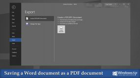 Saving a Word document to a PDF document