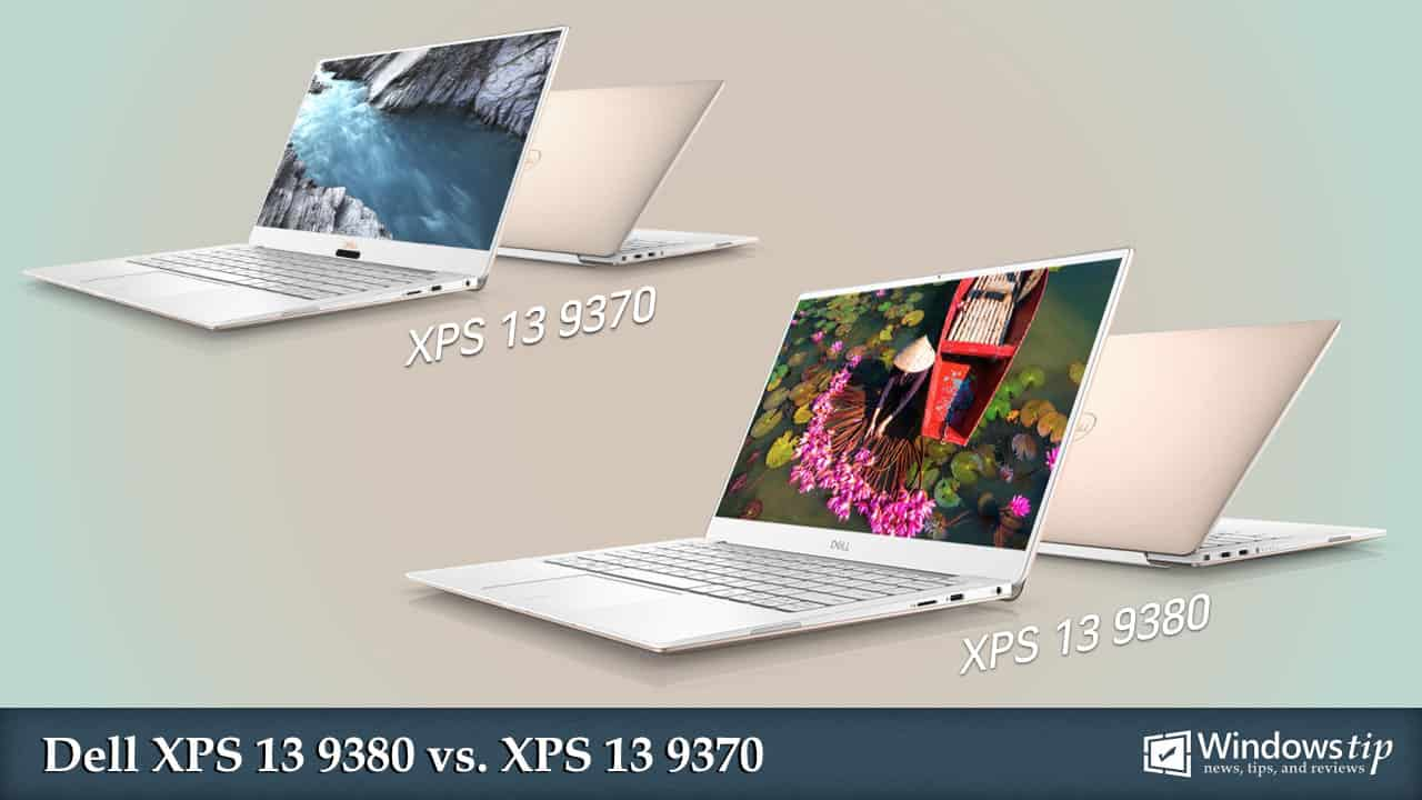Dell XPS 13 9380 vs. Dell XPS 13 9370