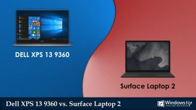 Dell XPS 13 9360 (2017) vs Surface Laptop 2