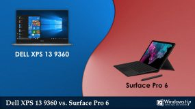 Dell XPS 13 9360 (2017) vs. Surface Pro 6