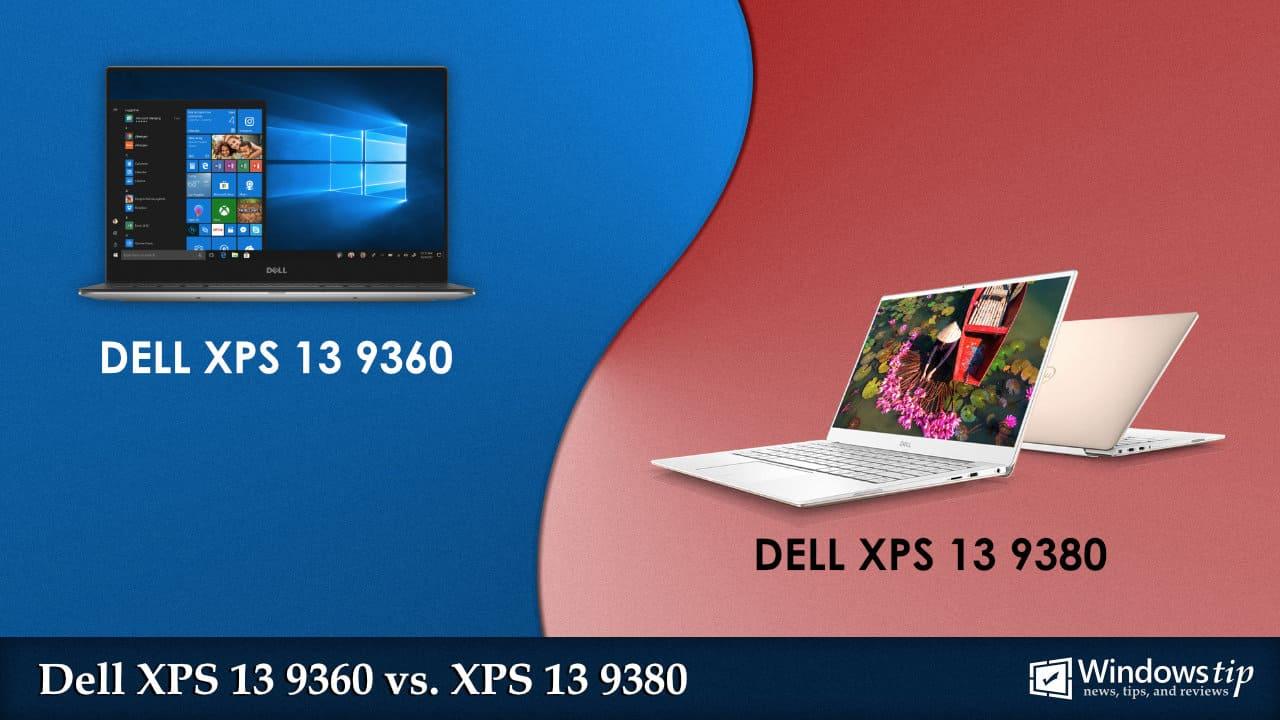 Dell XPS 13 9360 (2017) vs. Dell XPS 13 9380 (2019)