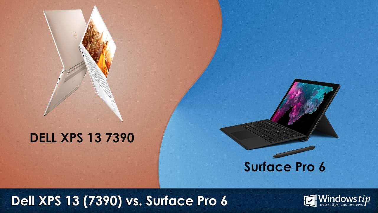 Dell XPS 13 7390 vs. Surface Pro 6