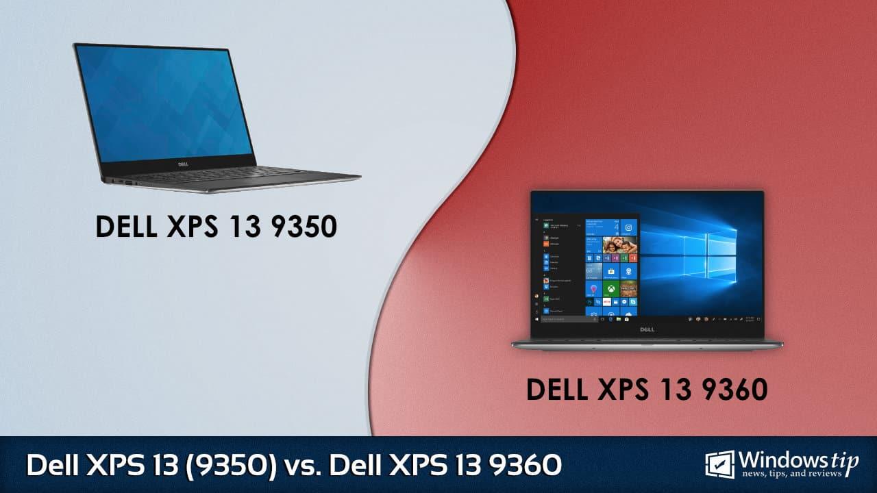 Dell XPS 13 9350 (2015) vs  Dell XPS 13 9360 (2017) – Full