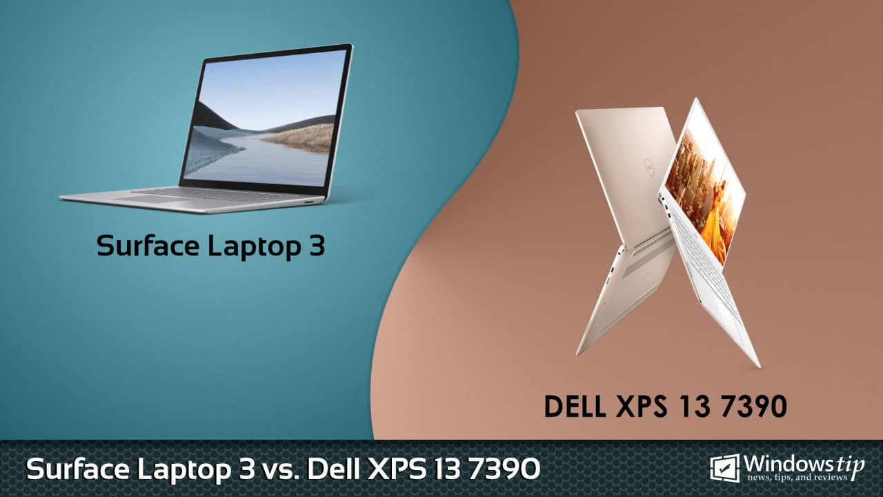 Surface Laptop 3 vs. Dell XPS 13 7390