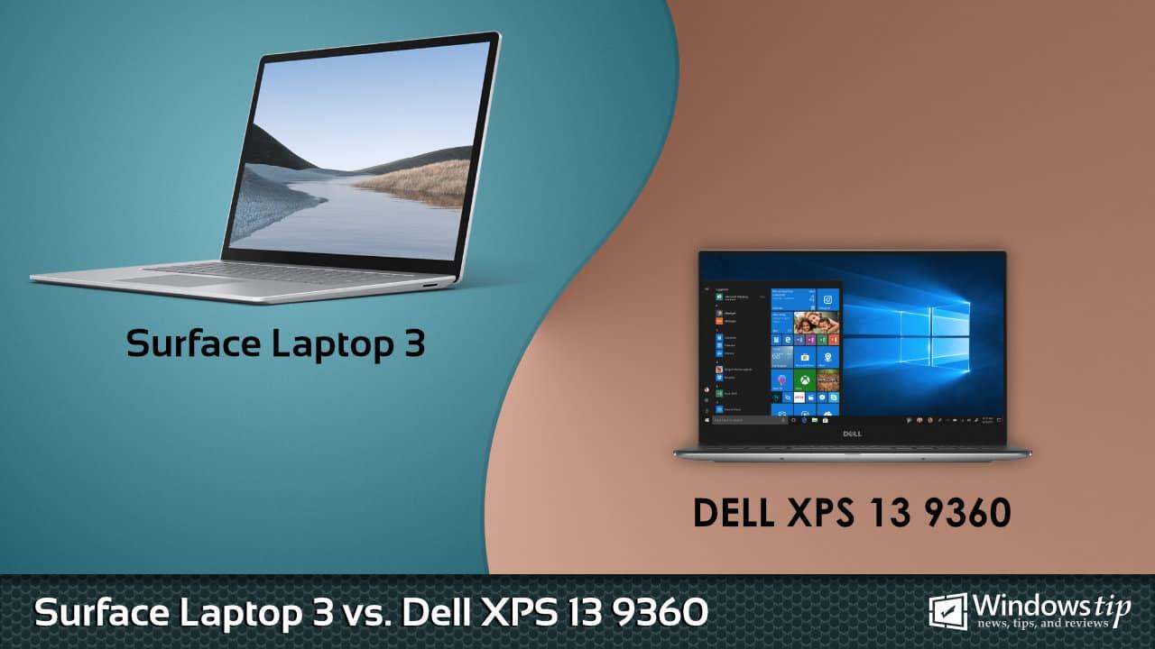 Surface Laptop 3 vs. Dell XPS 13 9360