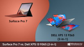Surface Pro 7 vs. Dell XPS 13 9365 2-in-1