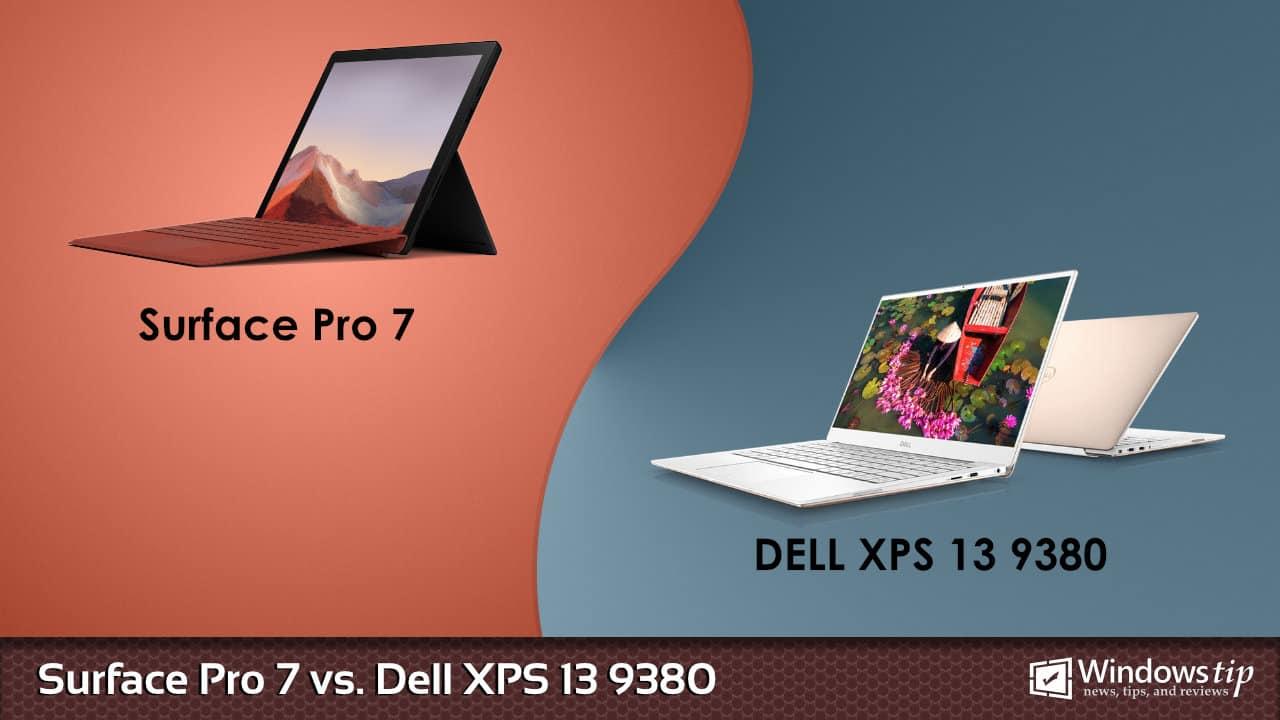 Surface Pro 7 vs. Dell XPS 13 9380