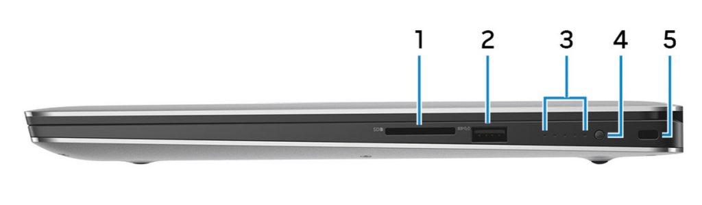 Dell XPS 15 9570 Right Ports