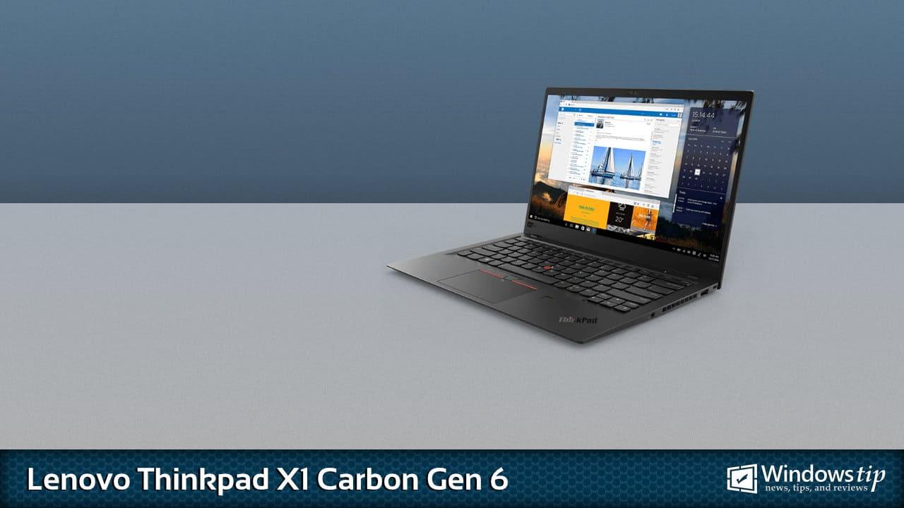 Lenovo ThinkPad X1 Carbon Gen 6