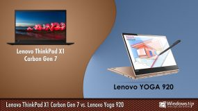 Lenovo ThinkPad X1 Carbon Gen 7 vs. Lenovo Yoga 920
