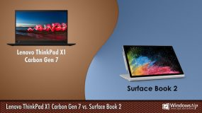 Lenovo ThinkPad X1 Carbon Gen 7 vs. Surface Book 2