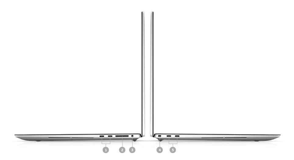 Dell XPS 17 9700 Ports