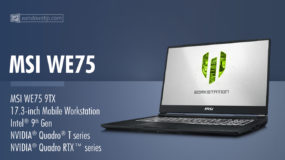 MSI WE75 Mobile Workstation (2019): Specs – Detailed Specifications