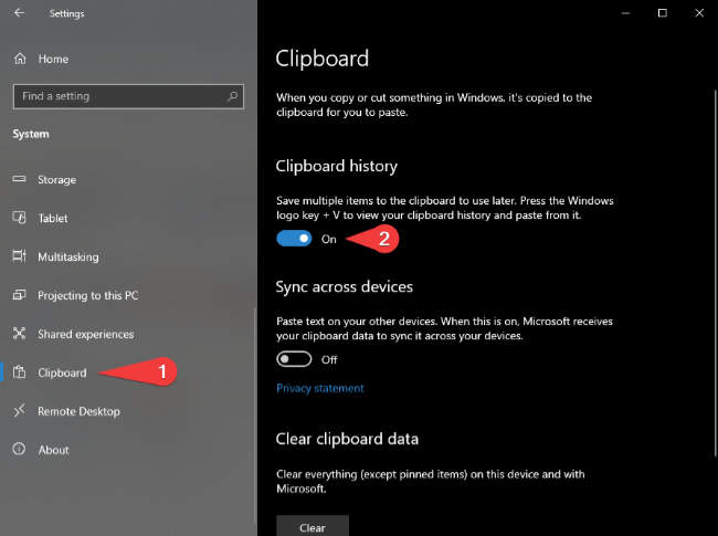 How to Enable Windows Clipboard History