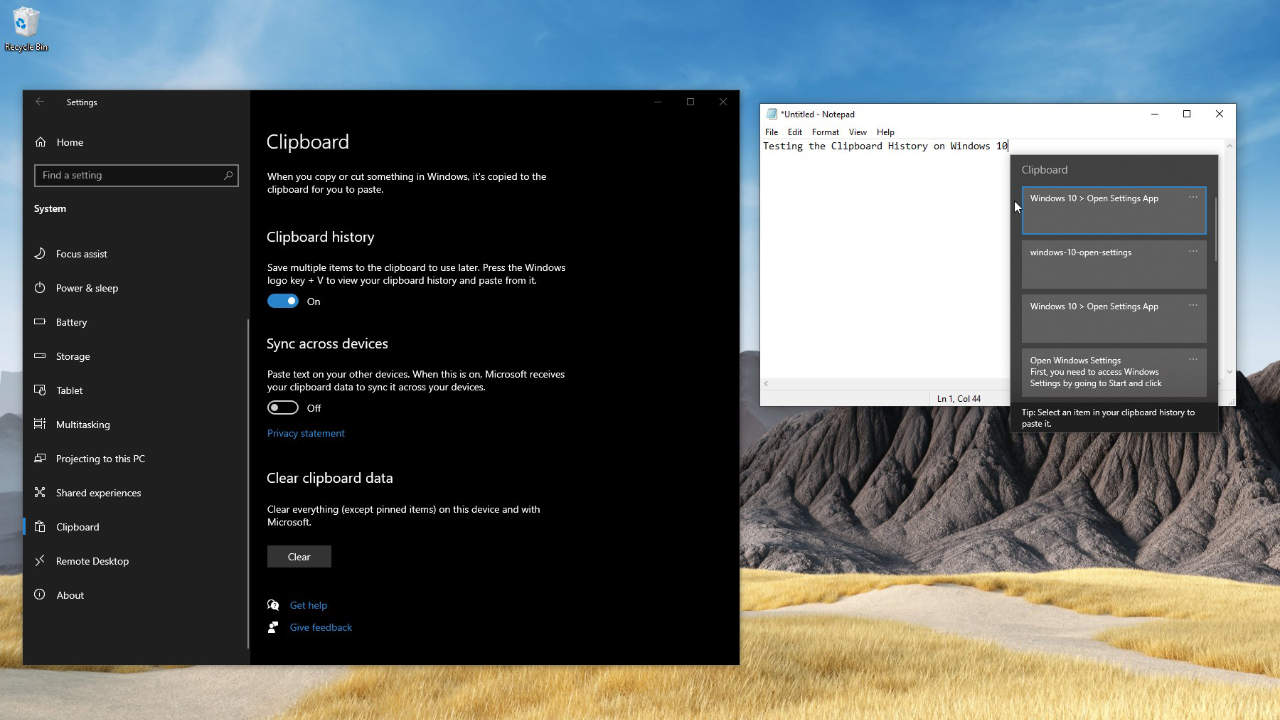 How to Enable and Use the Clipboard History on Windows 10