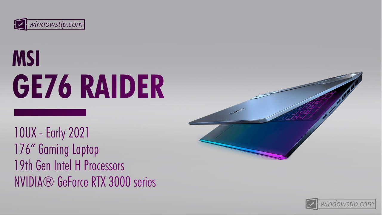 MSI GE76 Raider 10UX