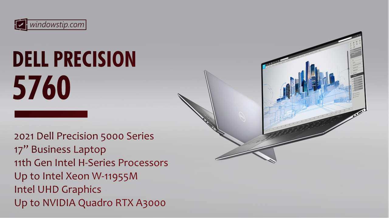 """2021 Dell Precision 17"""" 5760"""