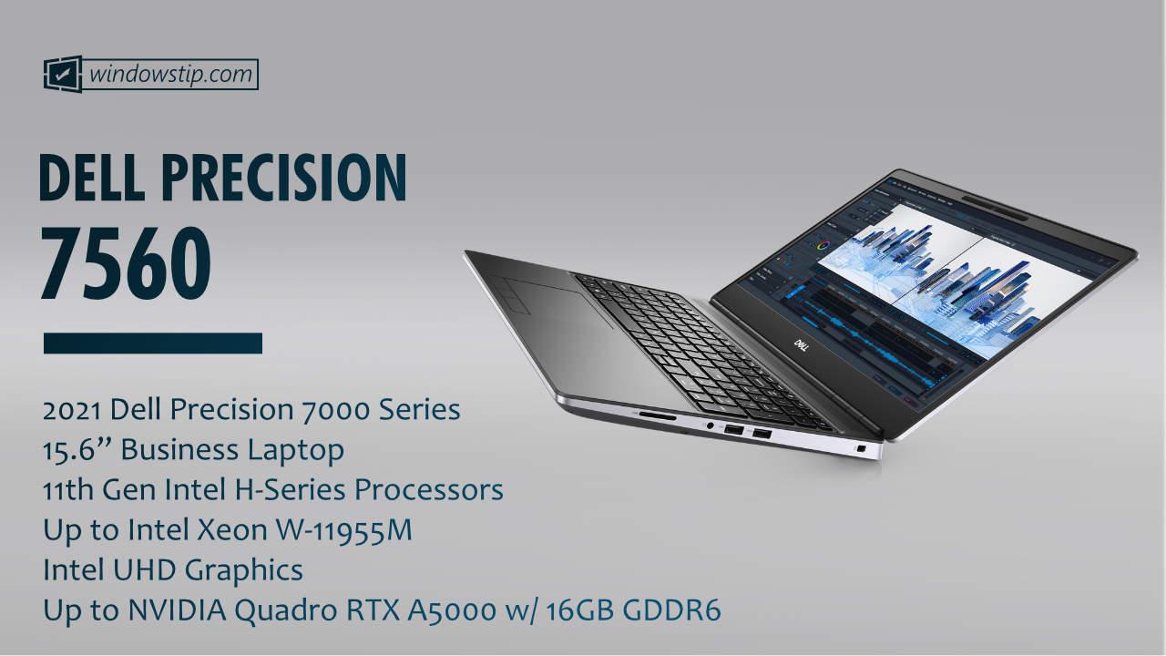 """2021 Dell Precision 15"""" 7560"""