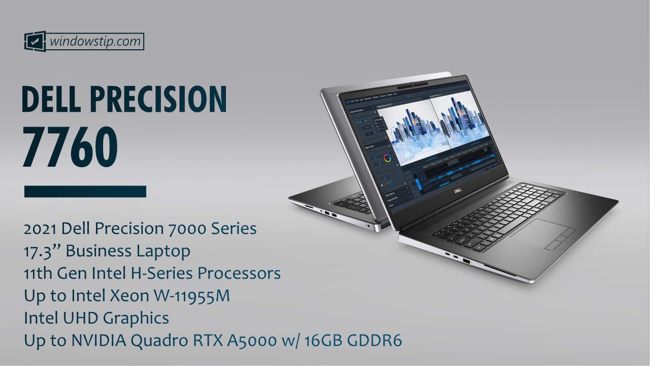 """2021 Dell Precision 17"""" 7560"""